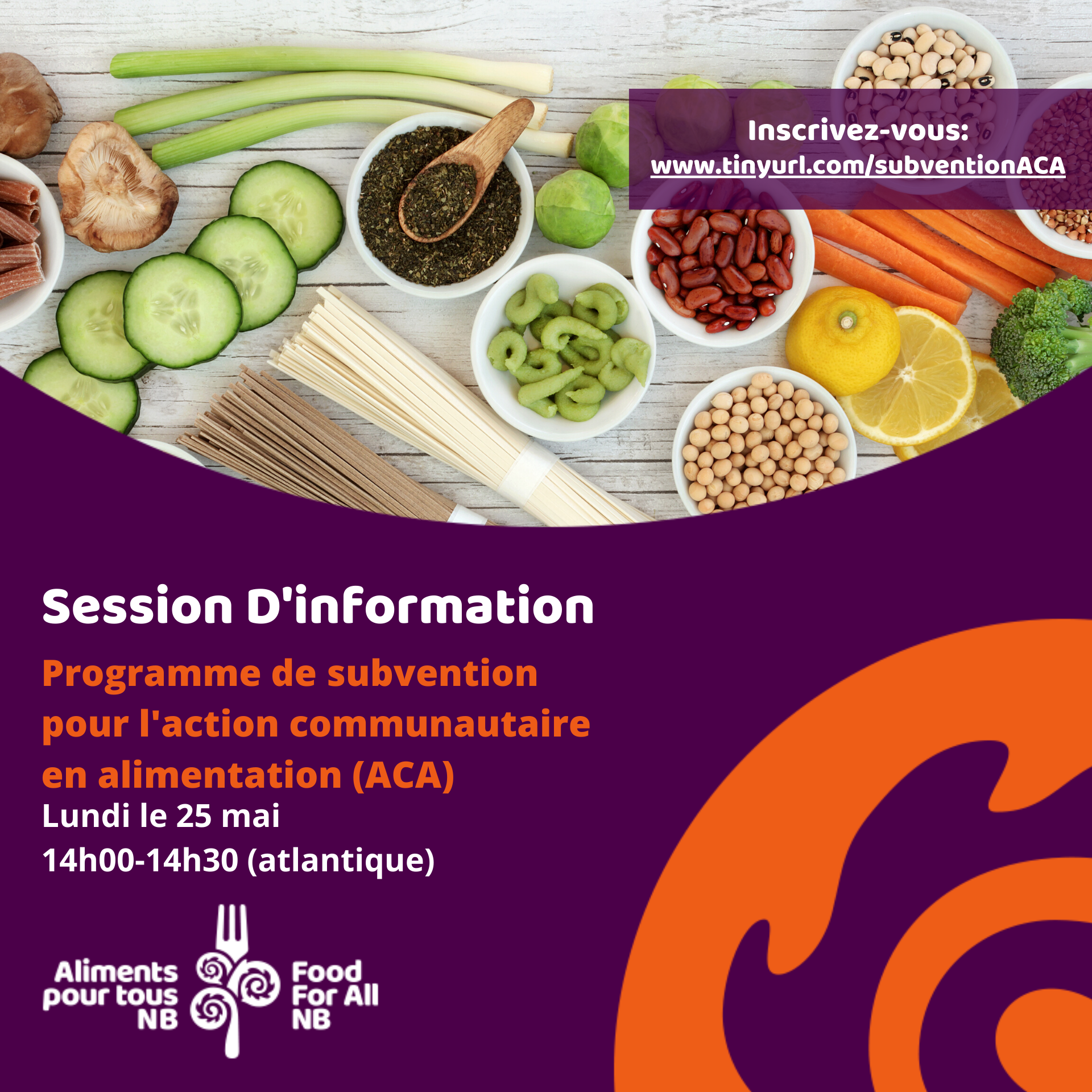 Programme de subvention pour l'action communautaire en alimentation: Session d'information