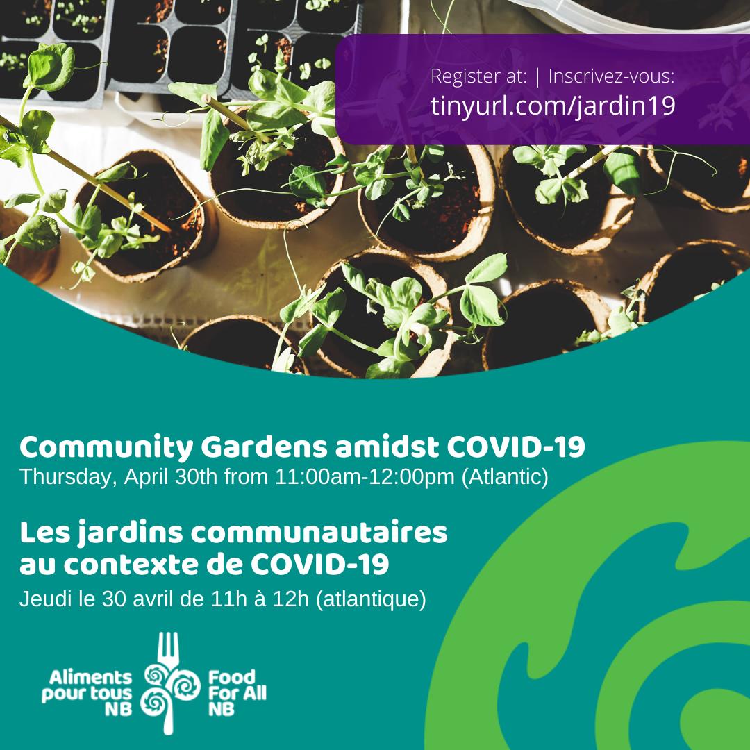 Les jardins communautaires au contexte de COVID-19