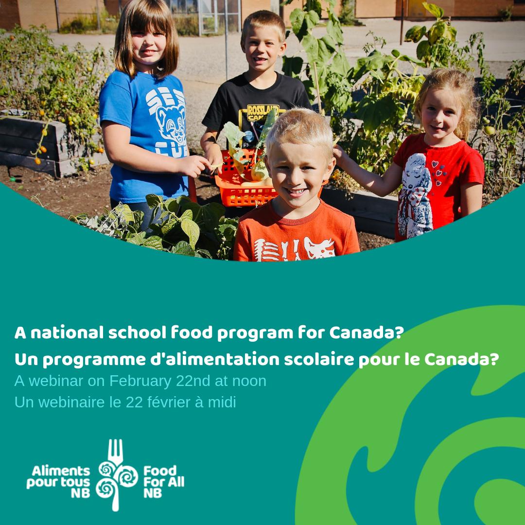 A National School Food Program for Canada?