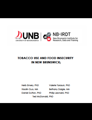 Tobacco Use and Food Insecurity in New Brunswick