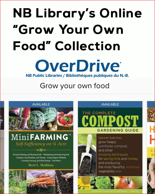 New Brunswick Public Libraries Grow Your Own Food Online Books Collection
